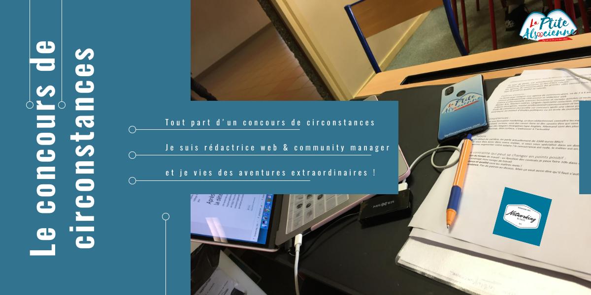 Tout part d'un concours de circonstances rédaction web community manager freelance cendrine miesch