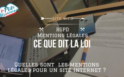 Quelles sont les mentions légales pour un site web