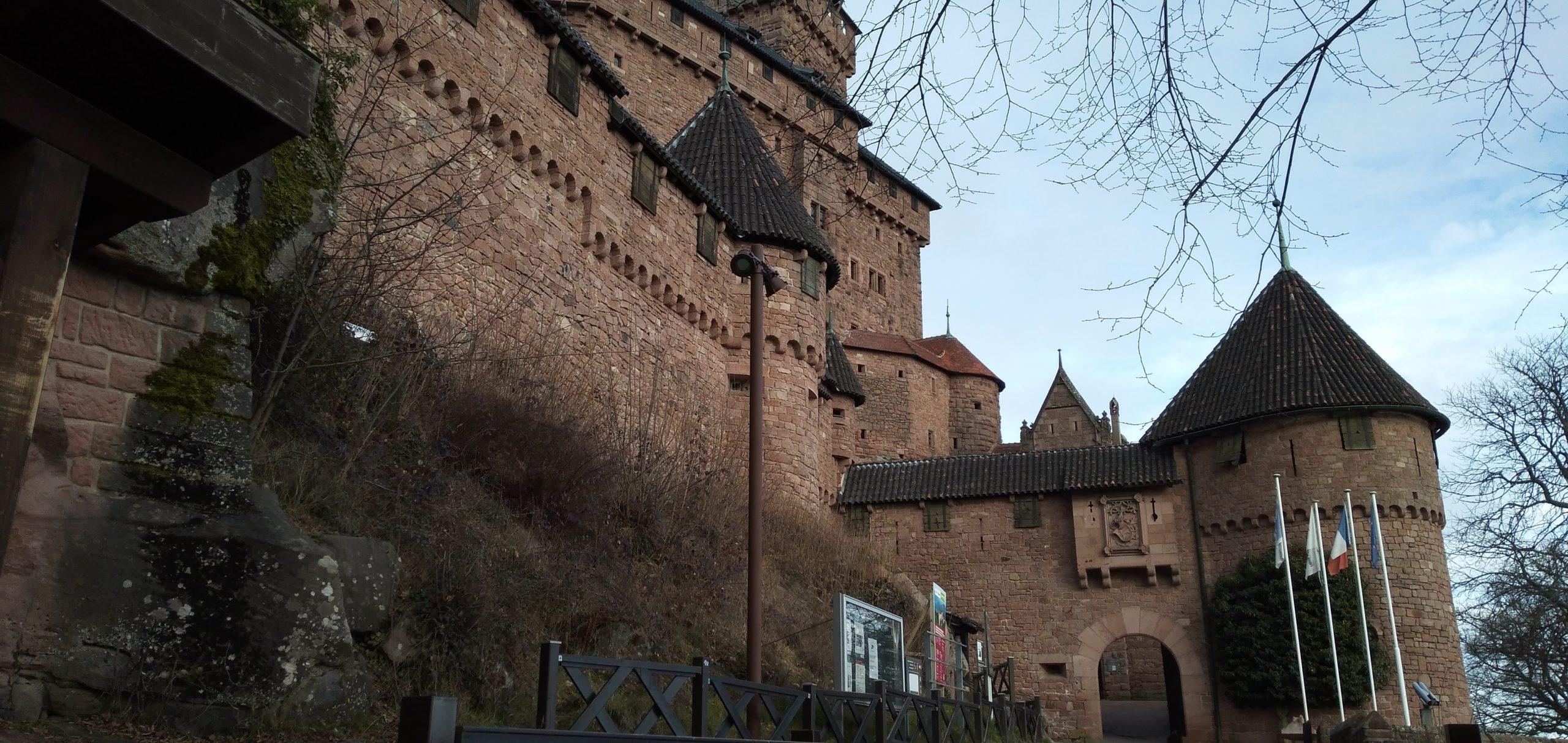 Entrée du Château du Haut-Koenigsbourg datant de janvier 20219 - Par Cendrine Miesch dite LaPtiteAlsacienne