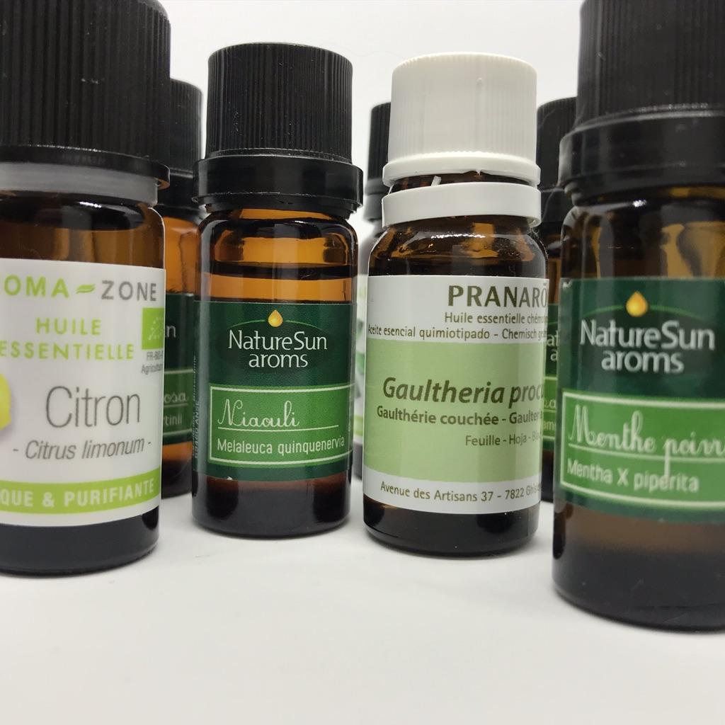 Quelques huiles essentielles pour faire face au coup de mou. Photo de Cendrine Miesch pour le blog de LaPtiteAlsacienne.com