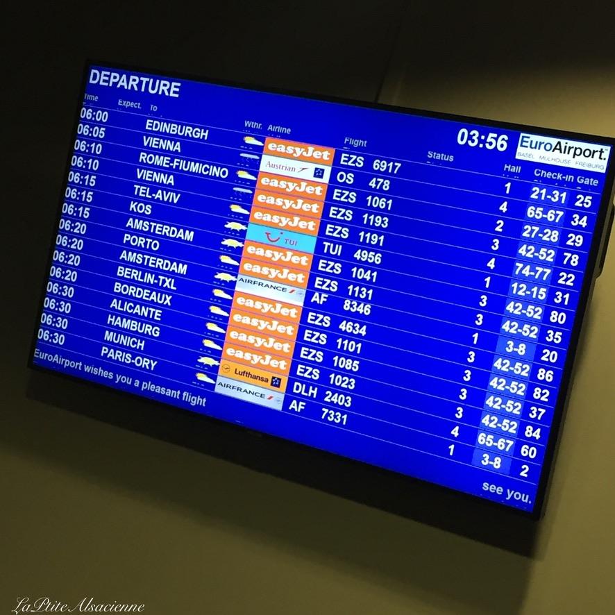 Aéroport Bâle-Mulhouse en direction d'Amsterdam (Voyage mai 2019)