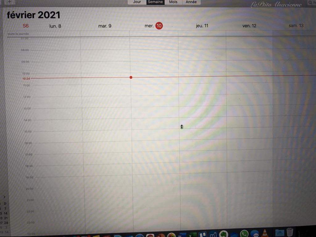 L'agenda informatique. Ici un Calendrier Google. Photo de Cendrine Miesch dite LaPtiteAlsacienne