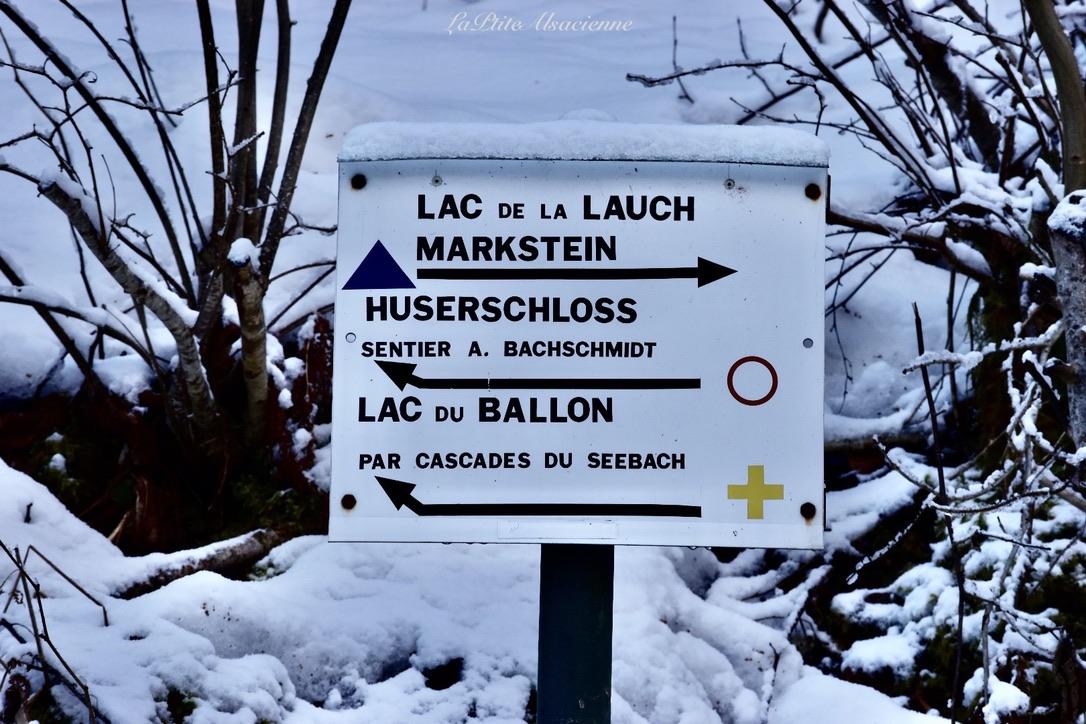 1ère intersection - Lac du Ballon croix jaune - Photo by Cendrine Miesch dite LaPtiteAlsacienne