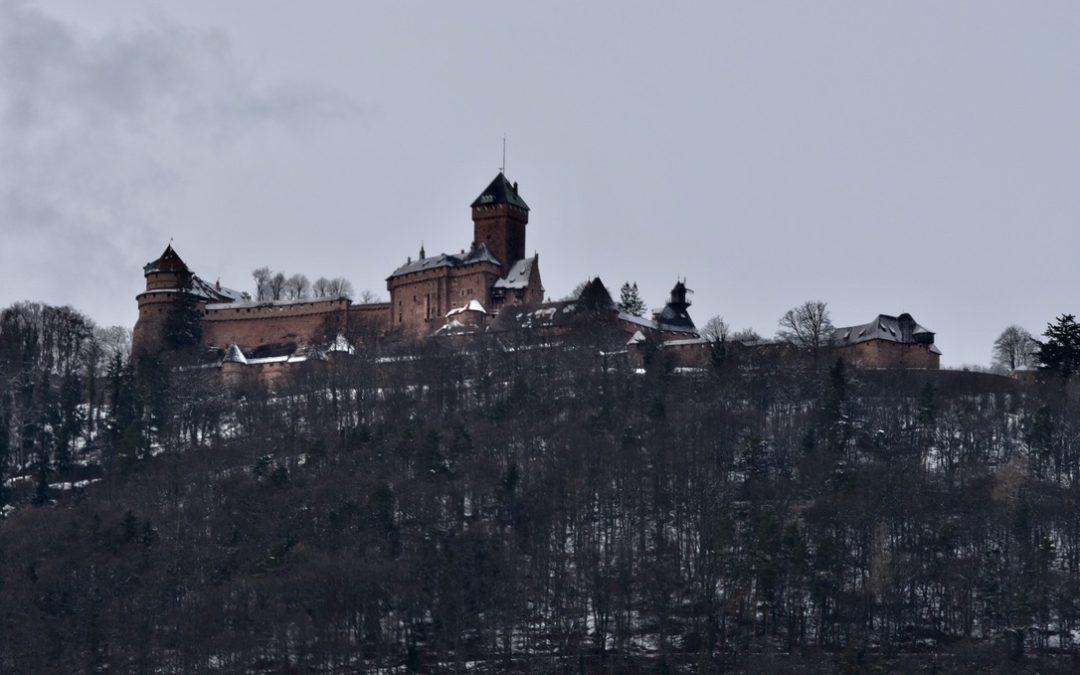 Le Haut-Koenigsbourg sous la neige