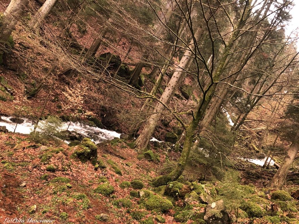 Au pied de la cascade du Seebach, avant d'entamer la montée - Photo de Cendrine Miesch dite LaPtiteAlsacienne