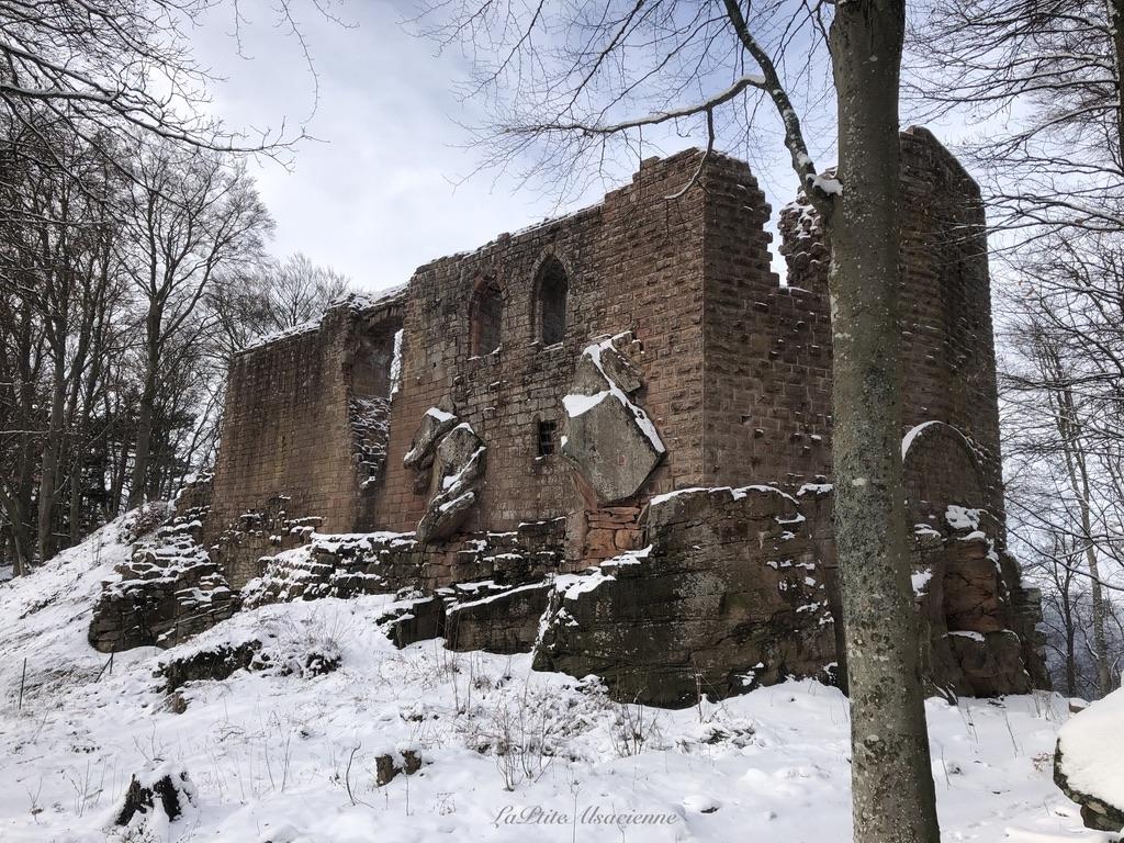 Ruines de l'Œdenbourg sous la neige - Petit Kœnigsbourg - Photo by Cendrine Miesch dite LaPtiteAlsacienne