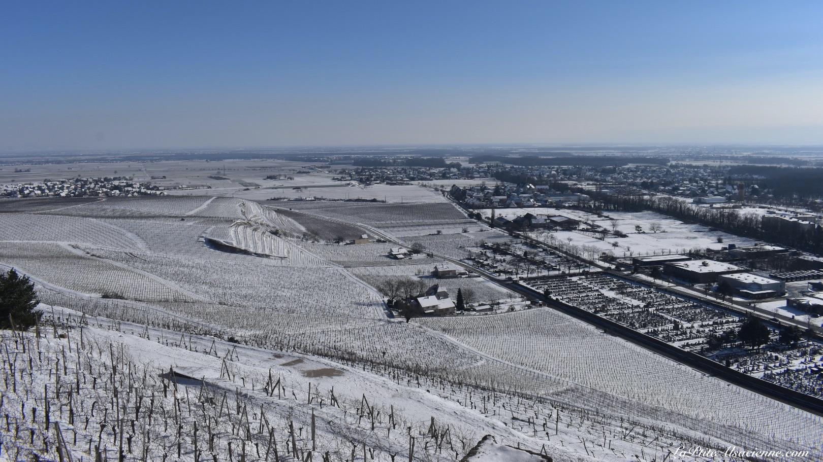 Vue sur la plaine d'Alsace depuis le vignoble de Guebwiller. Photo by Cendrine Miesch dite LaPtiteAlsacienne