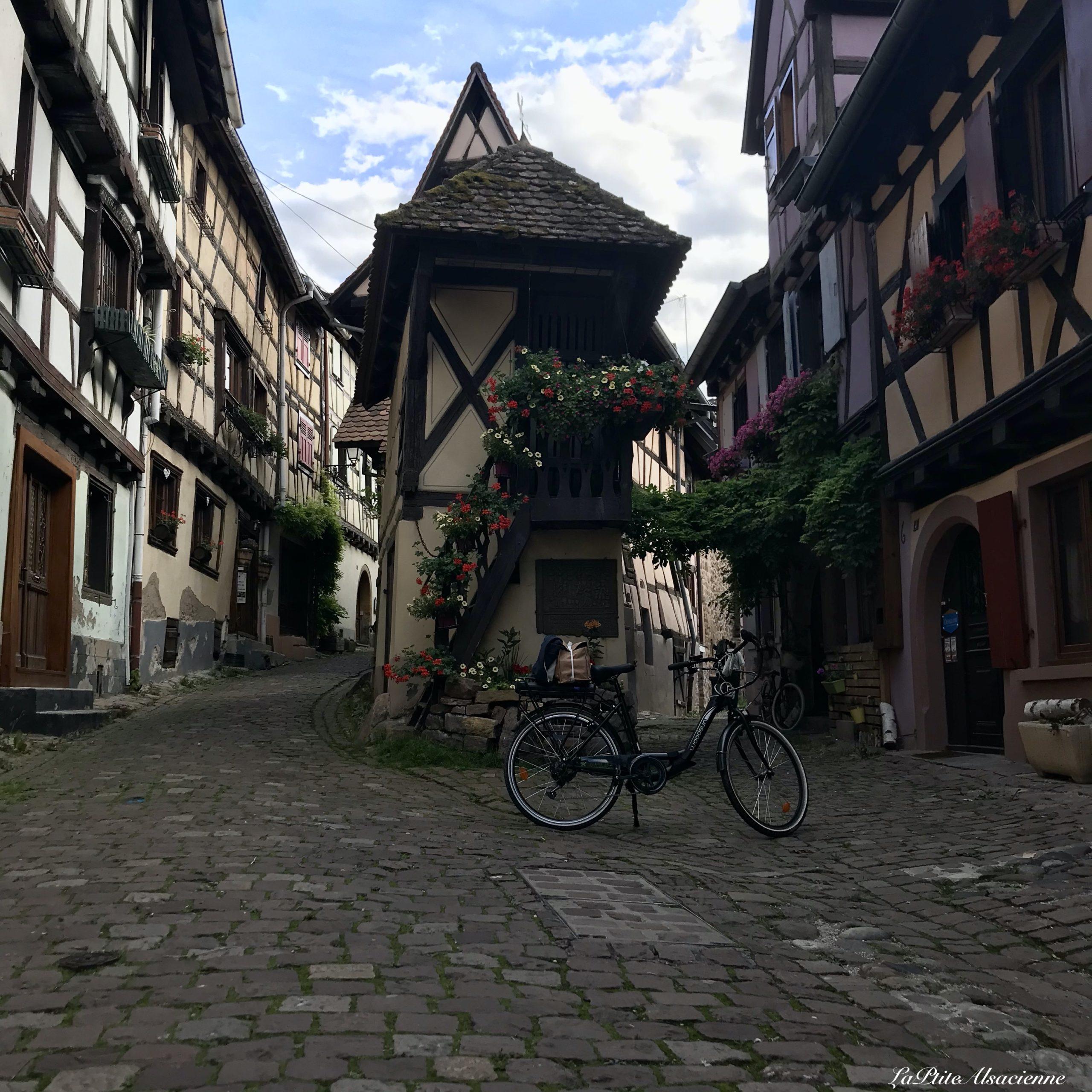 mon VAE m'a conduit jusqu'au pigeonnier à Eguisheim - Cendrine Miesch dite LaPtiteAlsacienne