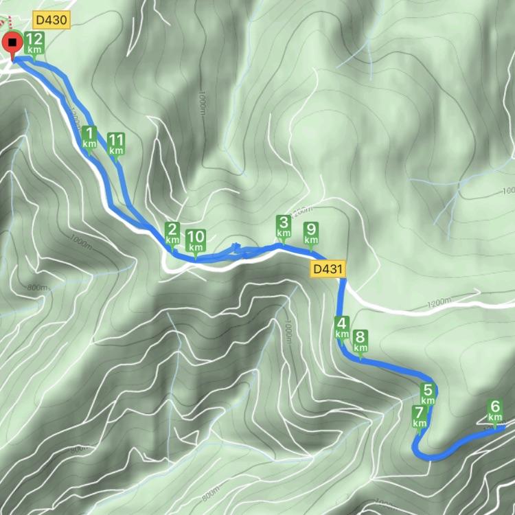 Carte de la randonnée réalisée entre le Markstein et le Grand Ballon le 16 février 2021 par Cendrine Miesch dite LaPtiteAlsacienne