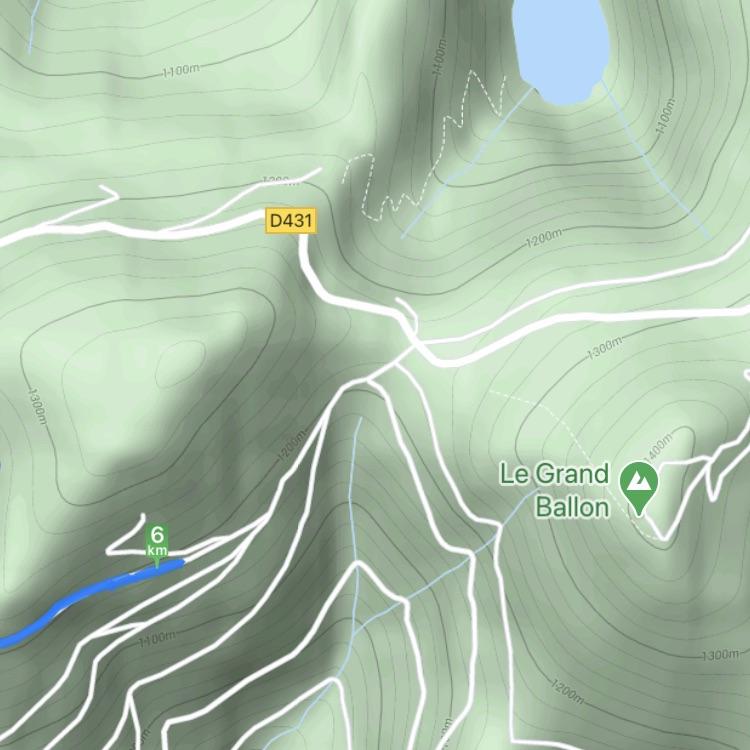 plan de ce qu'il me restait à réaliser pour arriver jusqu'au Grand Ballon (40 mns de trajet) - Cendrine Miesch dite LaPtiteAlsacienne
