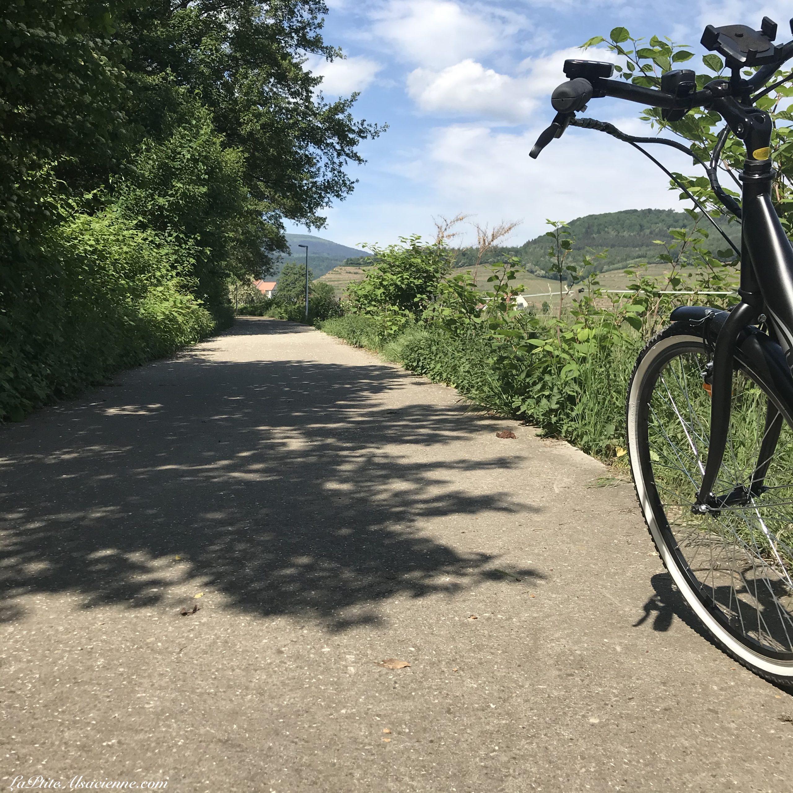 vélo électrique sur piste cyclable en direction de Guebwiller