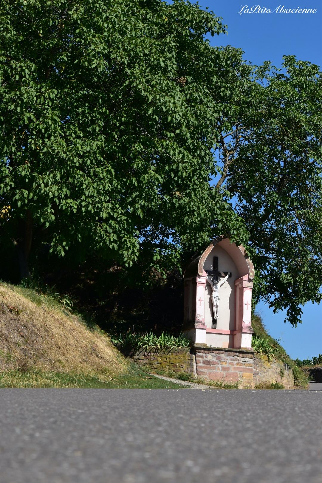 Route de vignoble en direction du Schauenberg par Pfaffenheim - Photo de Cendrine Miesch dite LaPtiteAlsacienne