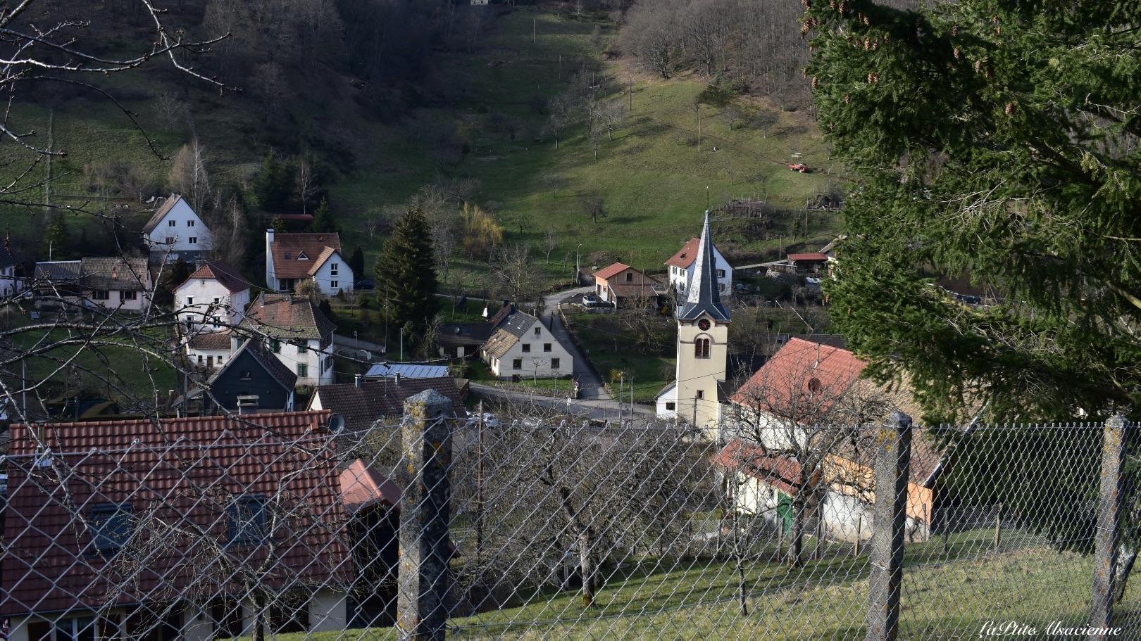 Arrivée sur Wasserbourg depuis le Petit Ballon