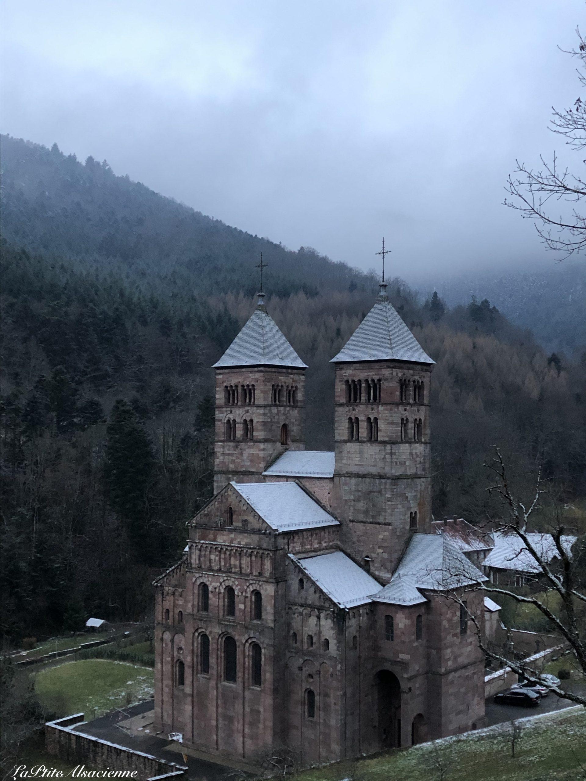 Abbaye de Murbach vue depuis Chappelle ND Lorette