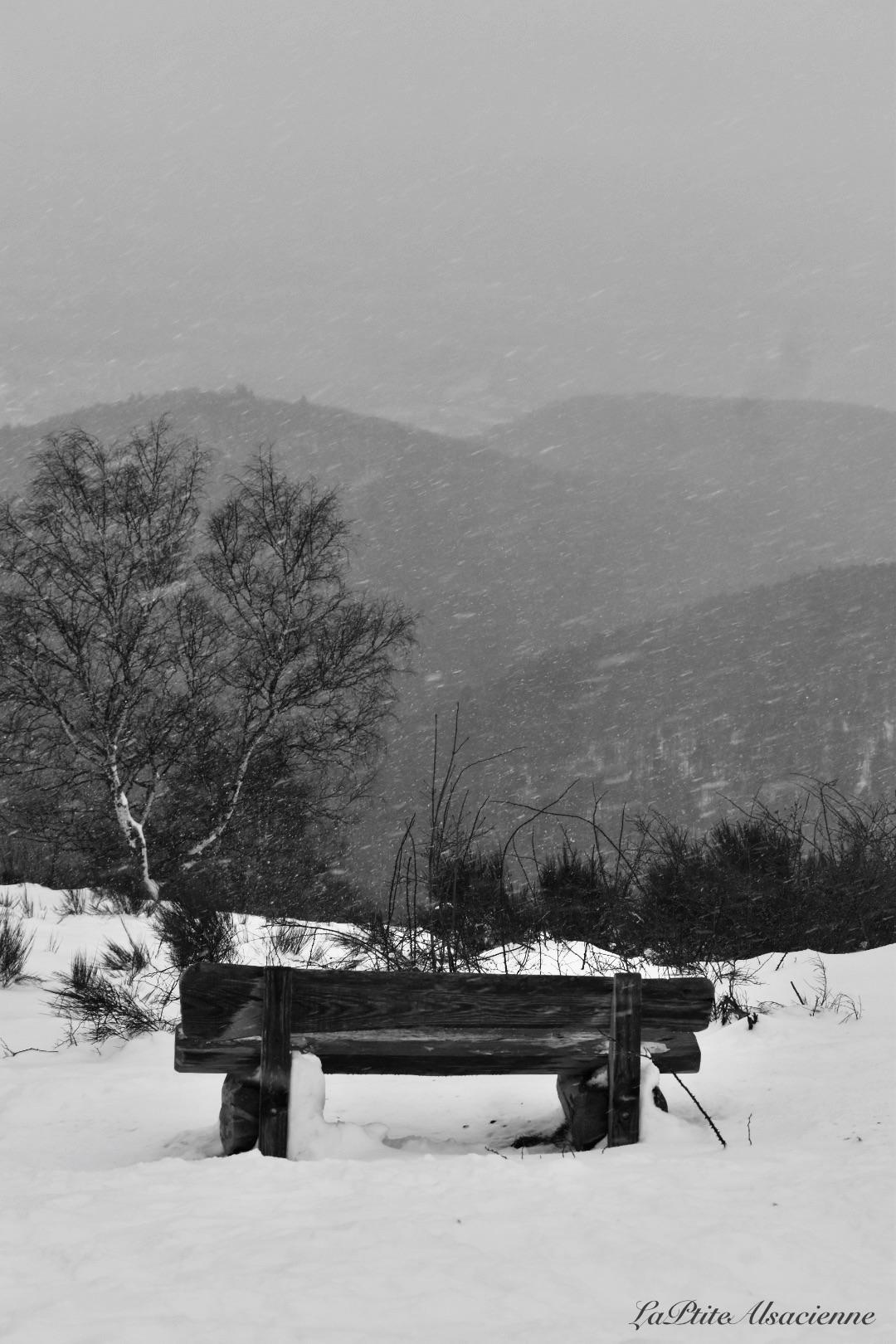 Ebeneck sous neige on voit pas la plaine d Alsace