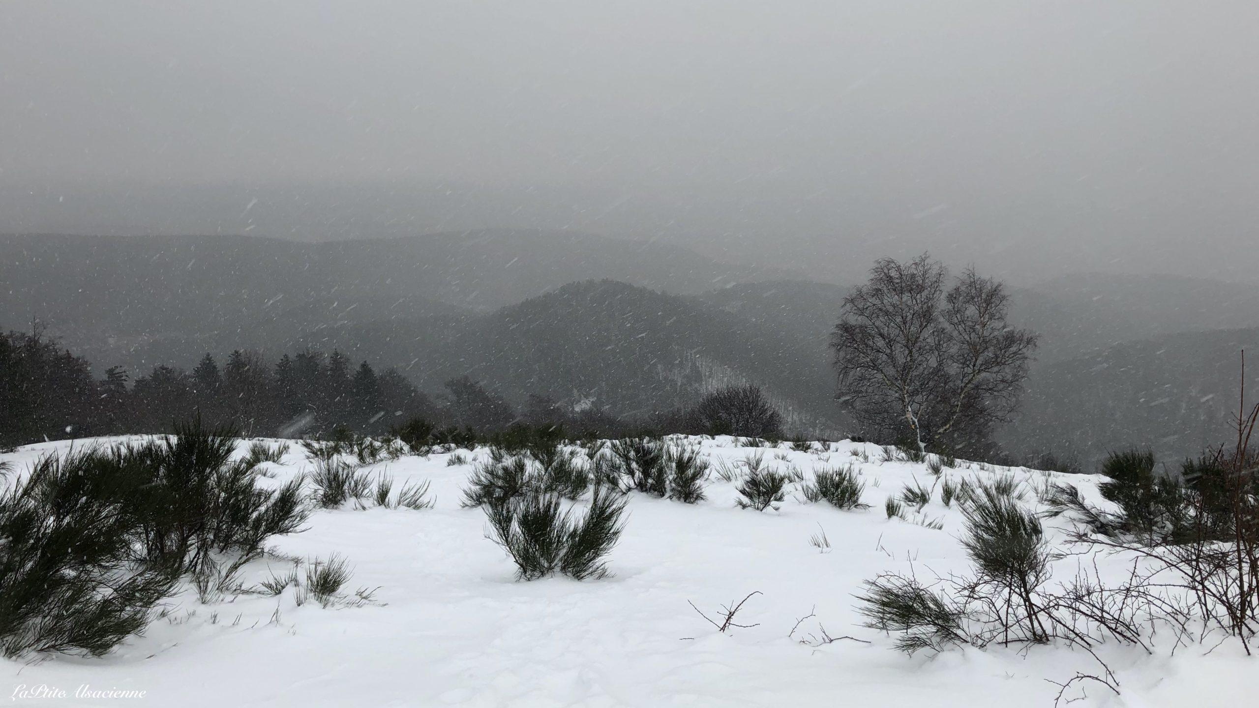 Ebeneck vue sous la neige