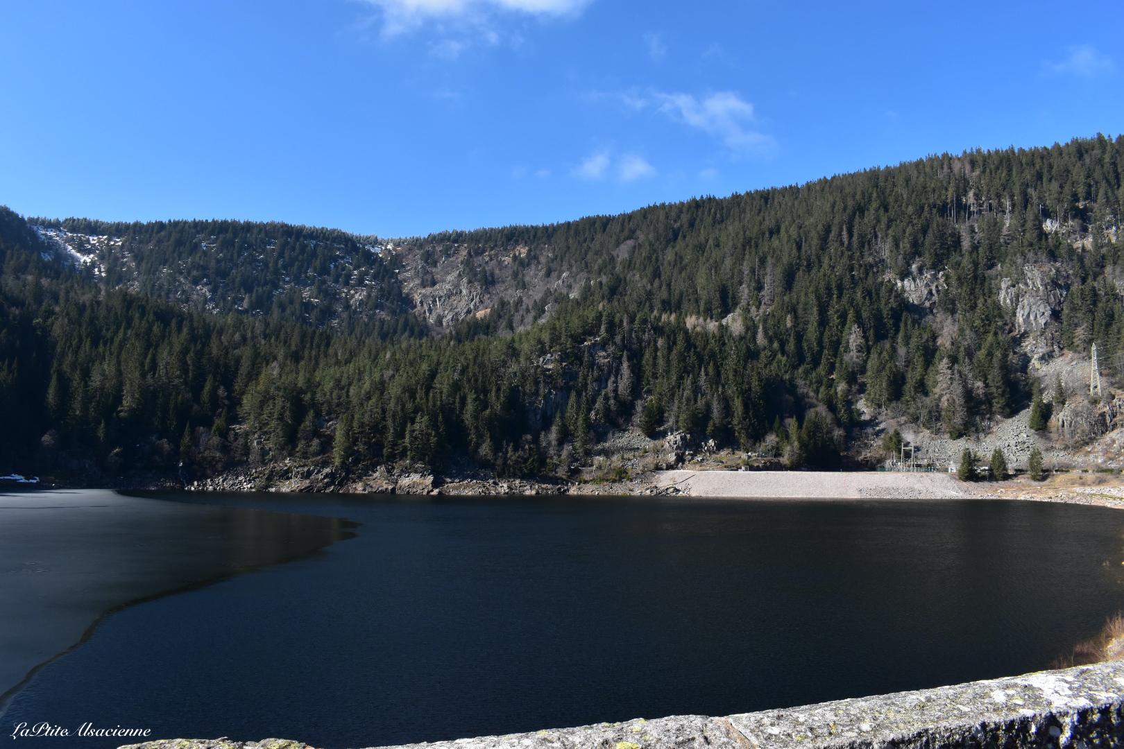 Le Lac Noir - Vue sur ce qui était avant la centrale hydroélectrique