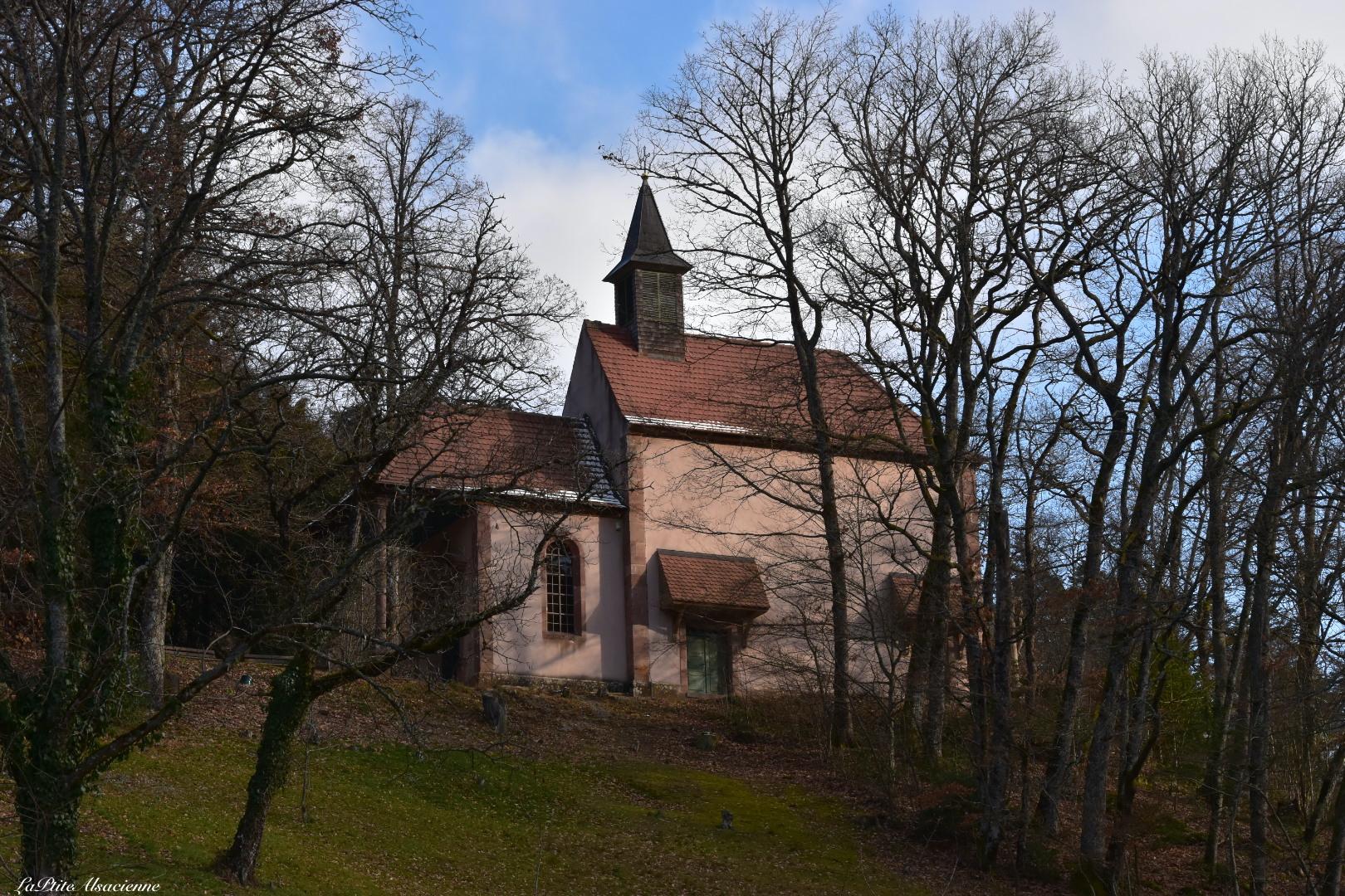Notre Dame de Lorette au dessus abbaye murbach