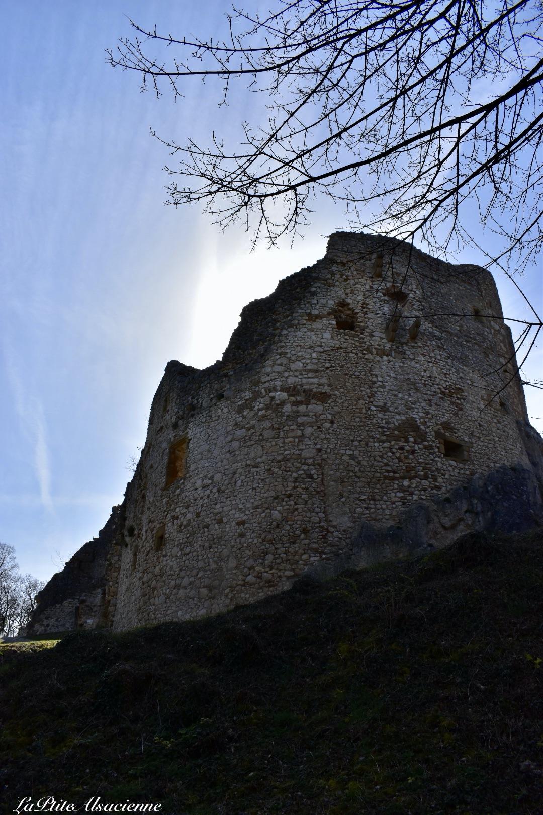 Contre Jour sur les ruines du château de Landskron proche de Bâle - Chateau à Leymen Alsace France