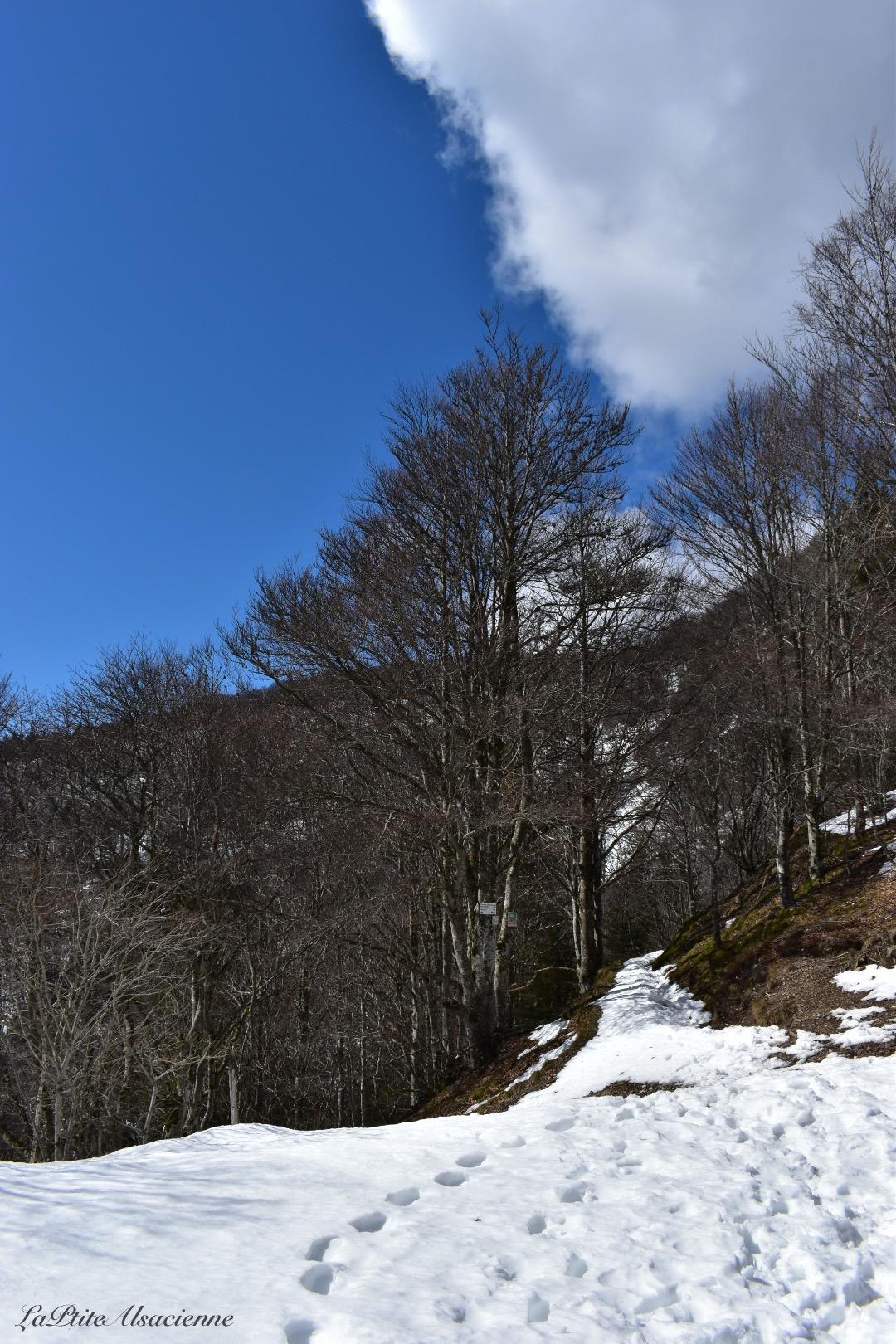 Chemin au Col des Perches sous la neige