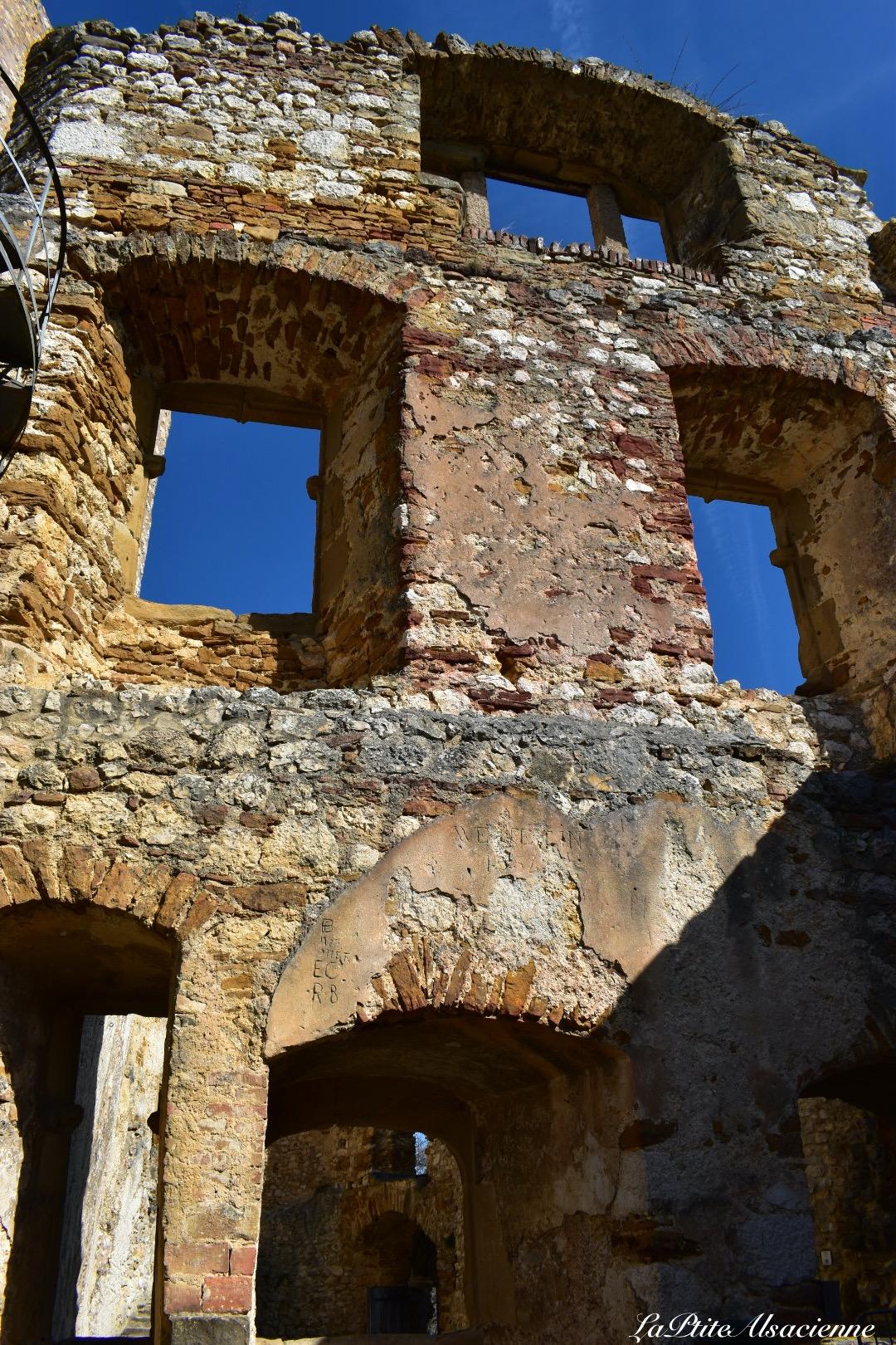 extrait du grand bastion du château fort Landskron à Leymen en Alsace