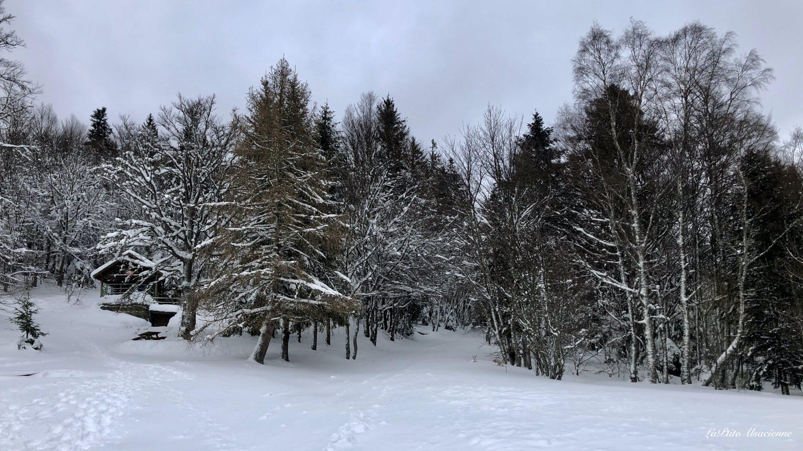 abri de judenhut sous la neige janvier 2021