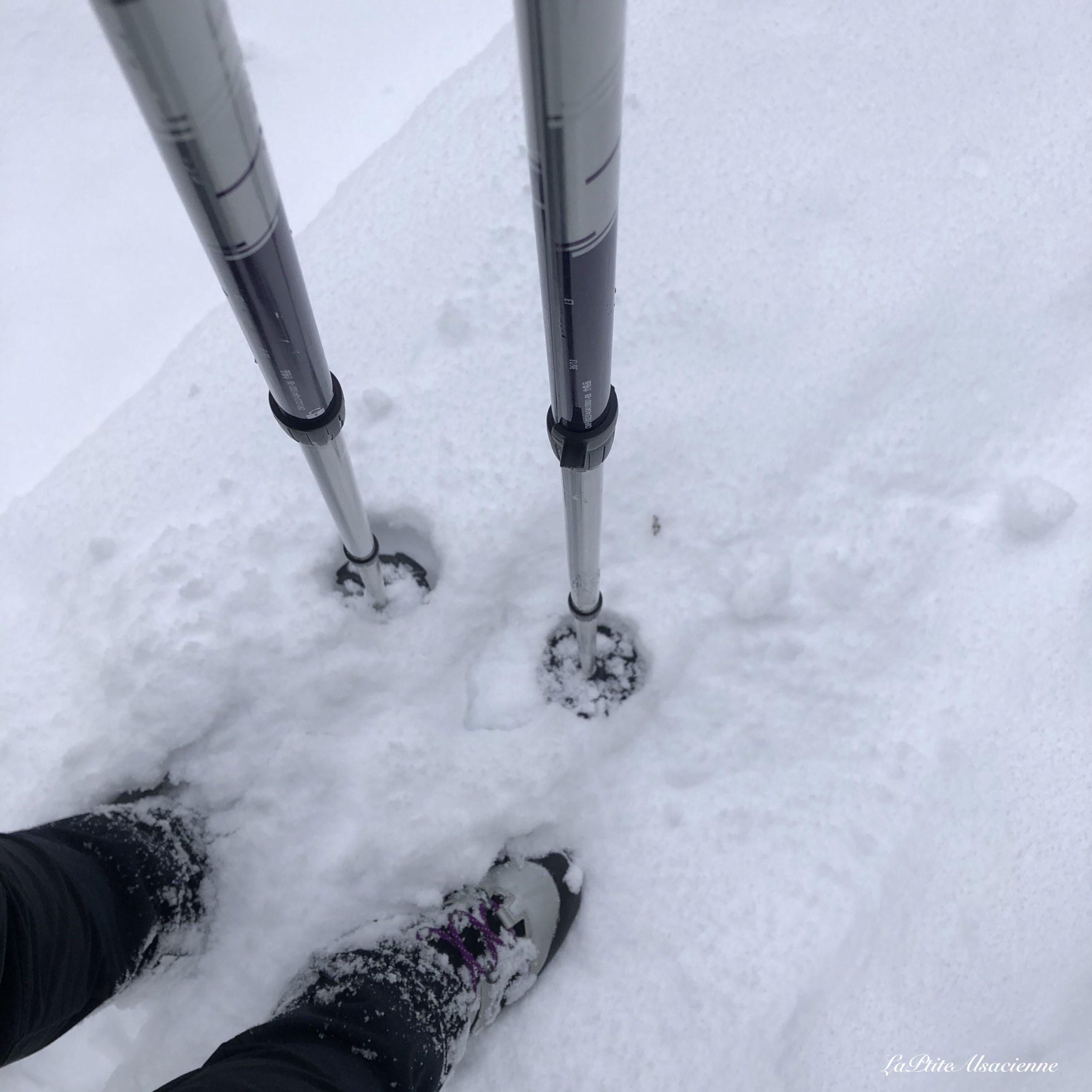 Chaussure pour randonner en hiver : Quechua Bionnassay Light Violet. Que je regrette d'avoir achetée car pas adaptée à mon pied !