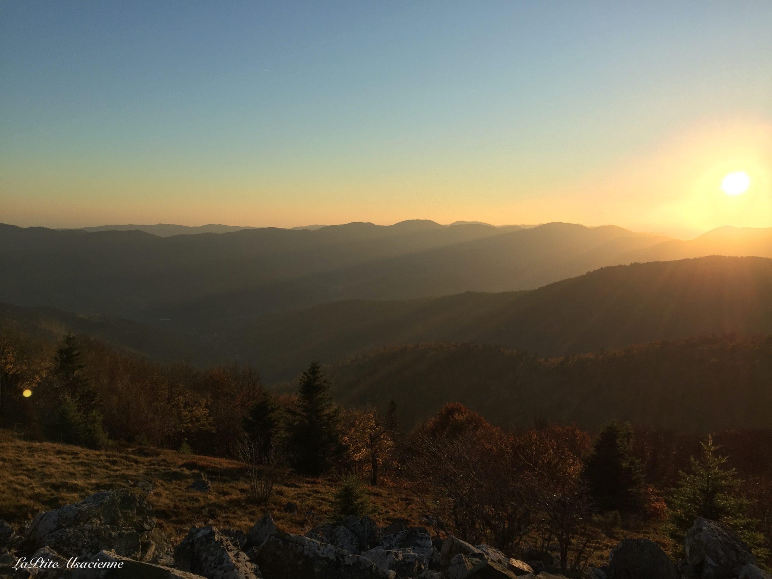 Coucher de soleil sur les Vosges depuis le Markstein