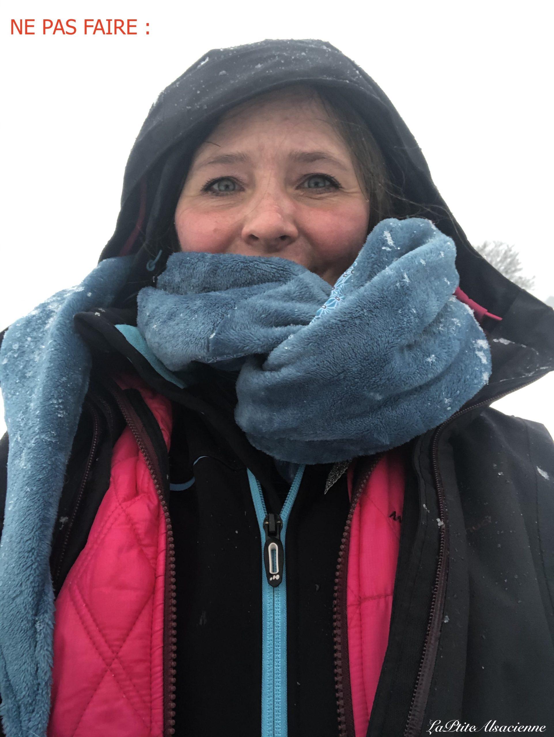 Ici, trop de couches de vêtements pour randonner même dans la neige ! une veste de ski sous la veste chaude et le coupe vent !