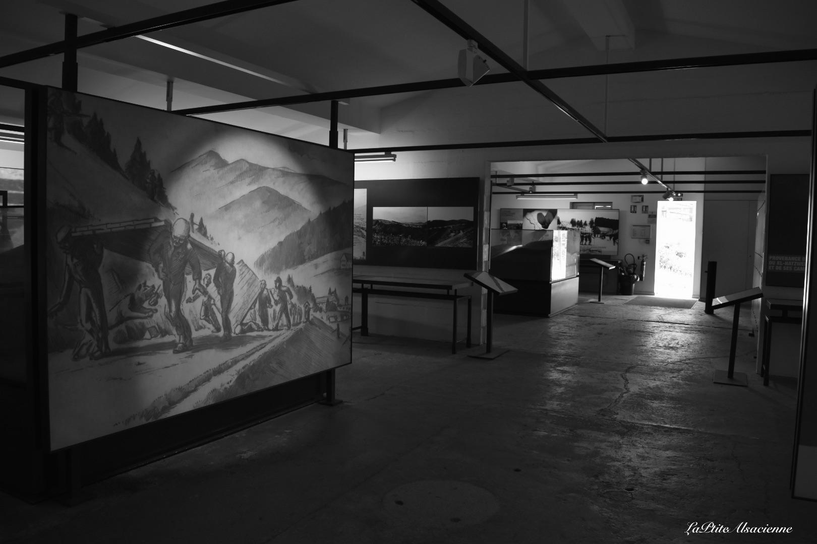 Exposition dans le 1er baraquement du Struthof - Photo  de Cendrine Miesch dite LaPtiteAlsacienne