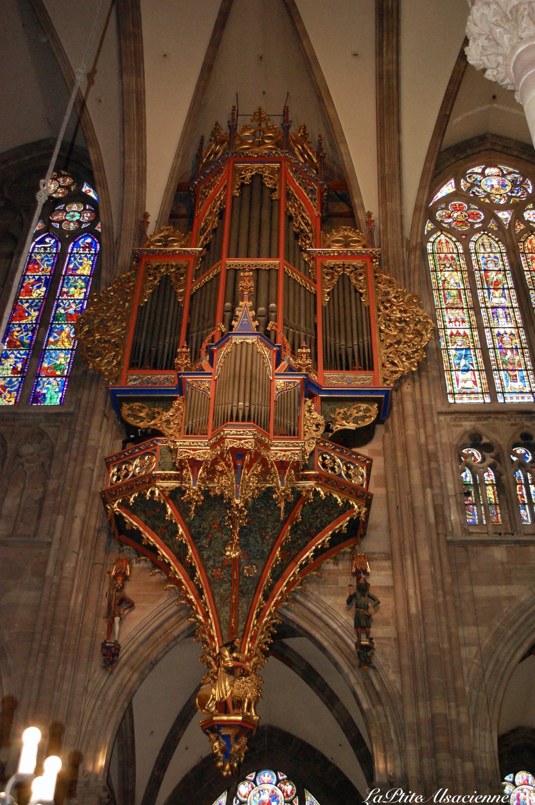 L'orgue présent dans la Cathédrale de Strasbourg - Photo de Cendrine Miesch