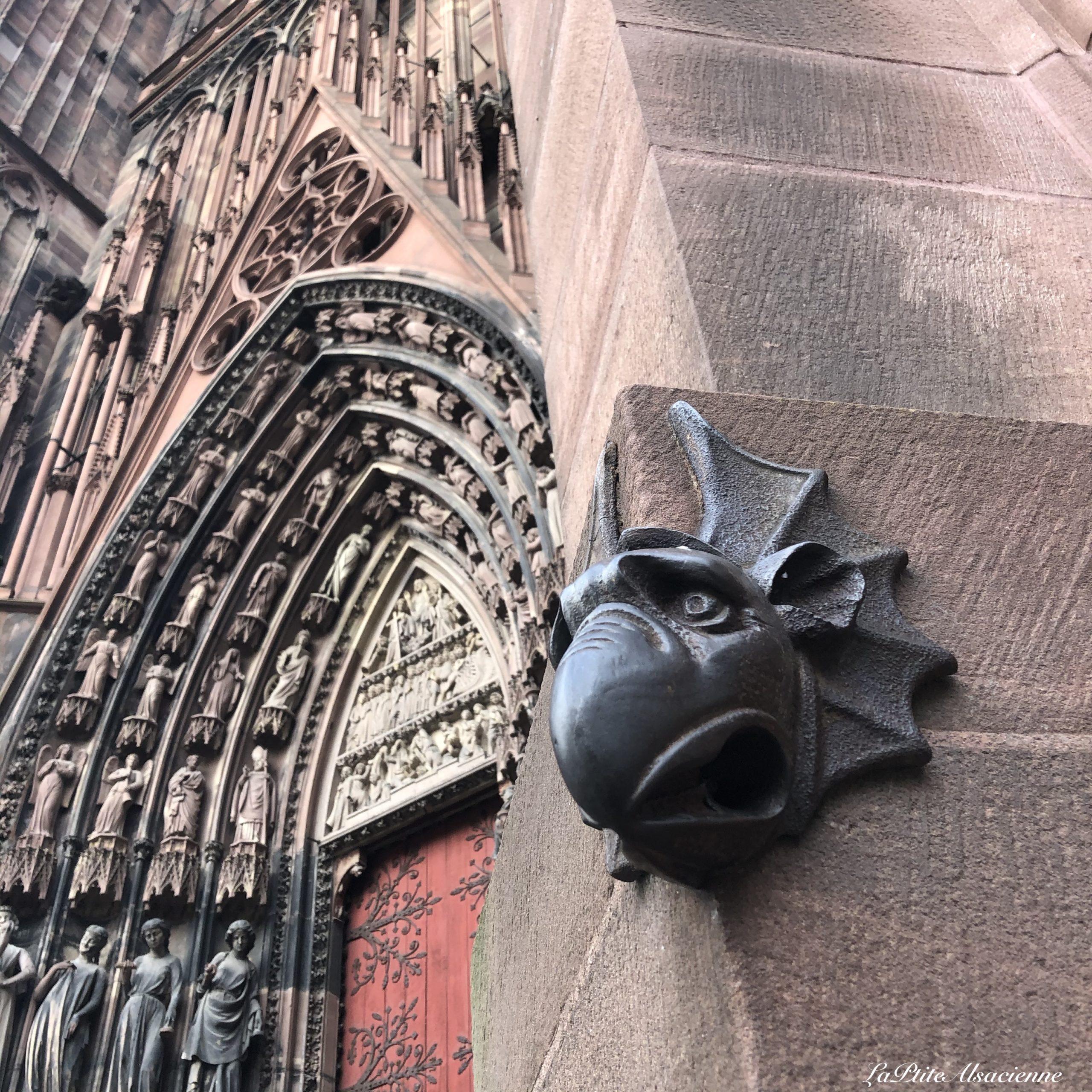 Le porte bonheur de la Cathédrale Notre Dame de Strasbourg - Photo de Cendrine Miesch