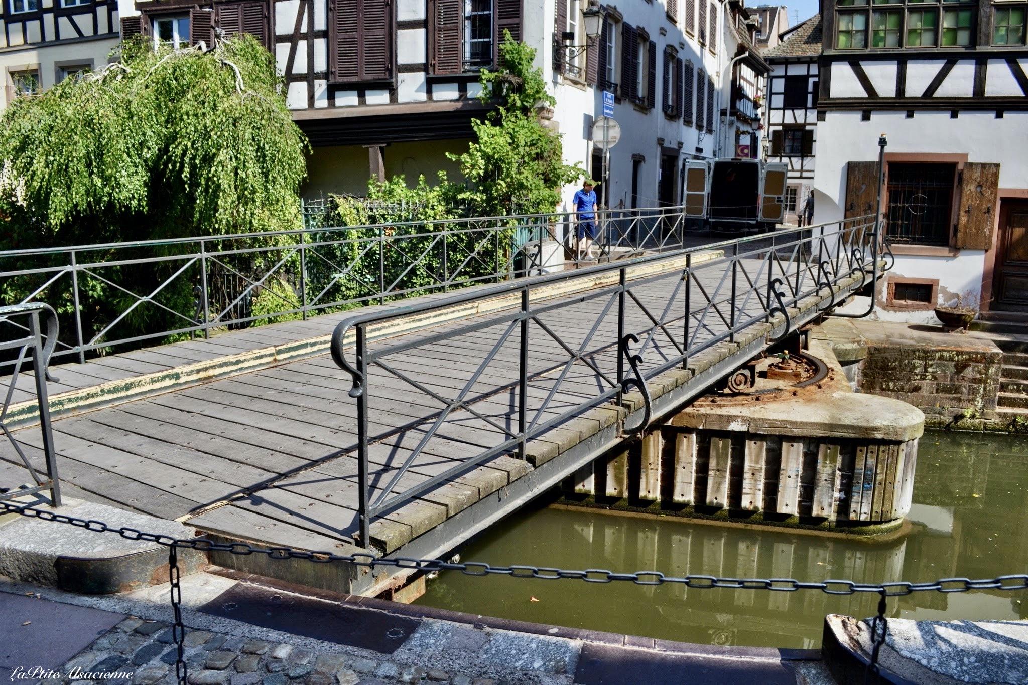 Le pont tournant ou pont du faisan à Strasbourg - Photo de Cendrine Miesch
