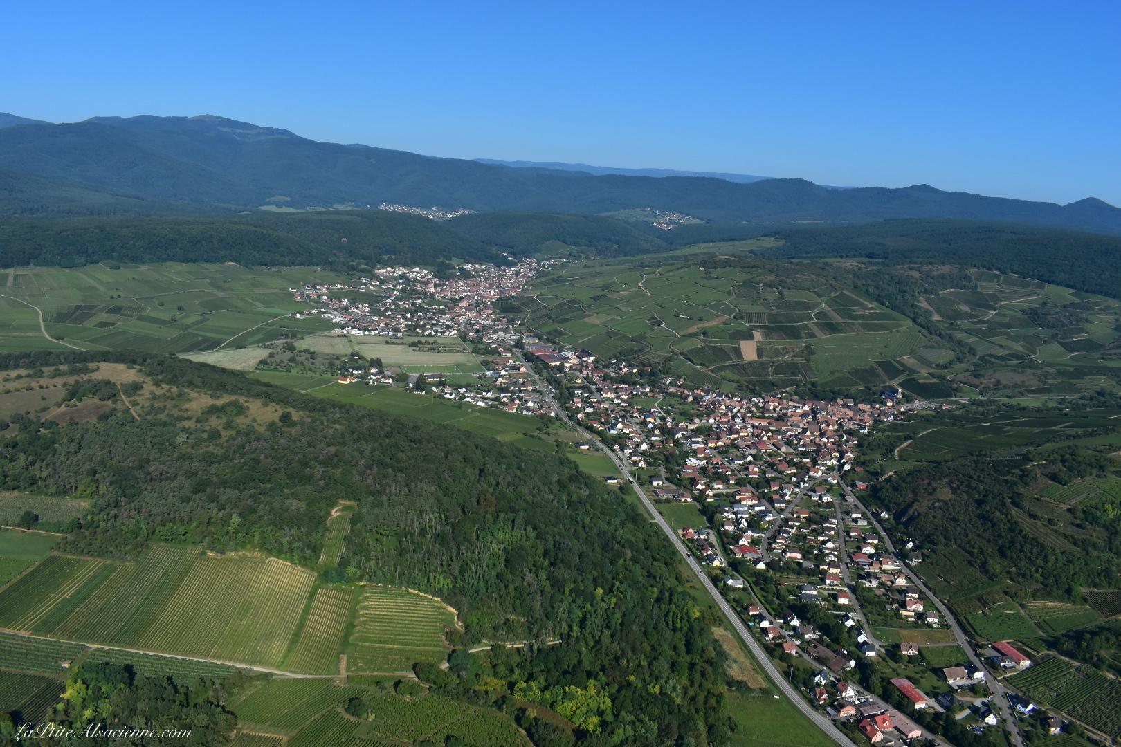 Westhalten, Soultzmatt, la Vallée Noble, Wintzfelden et Osenbach. Et le Petit Ballon. Photo de Cendrine Miesch dite LaPtiteAlsacienne