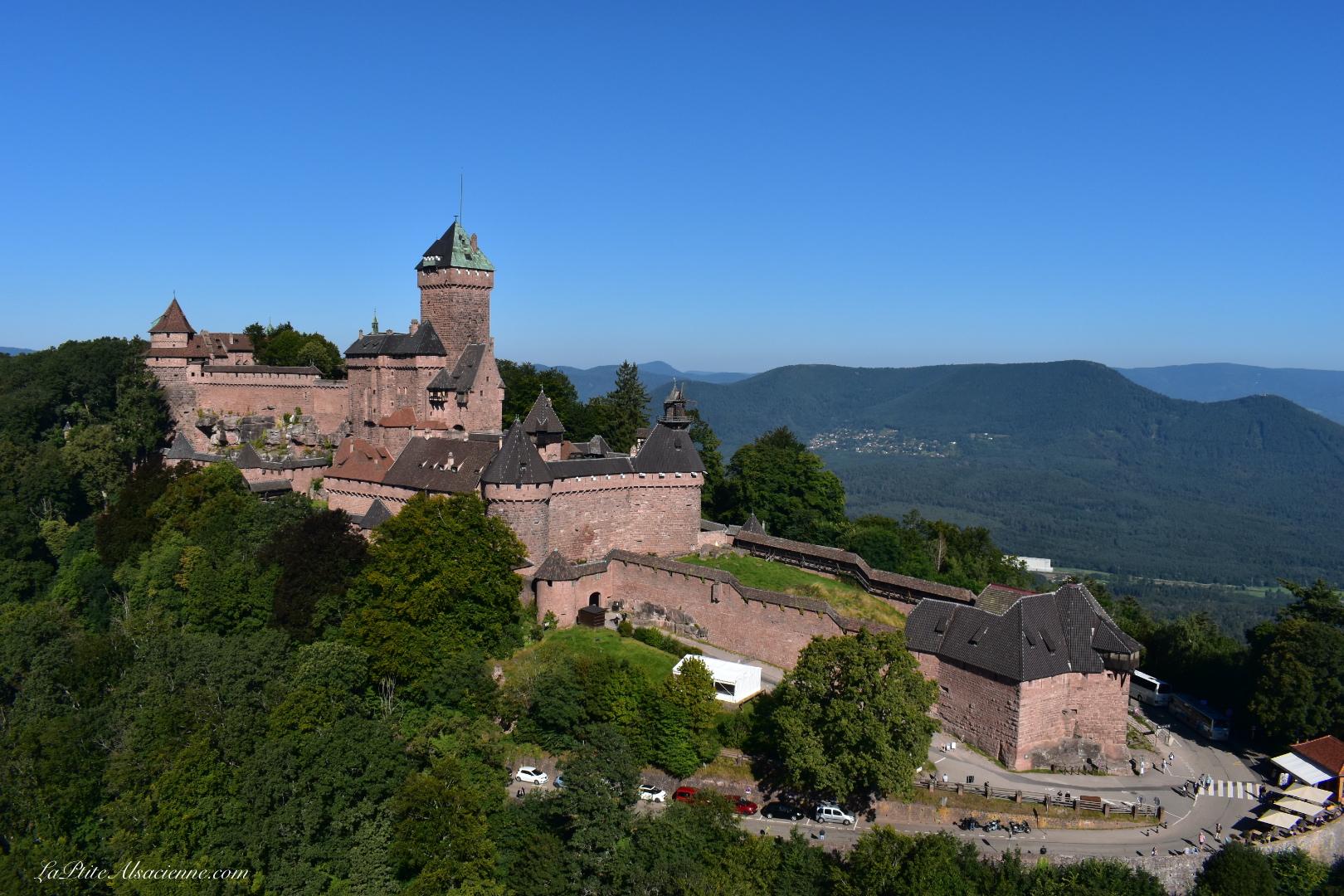 Le château du Haut Kœnigsbourg vu du ciel par Cendrine Miesch dite LaPtiteAlsacienne