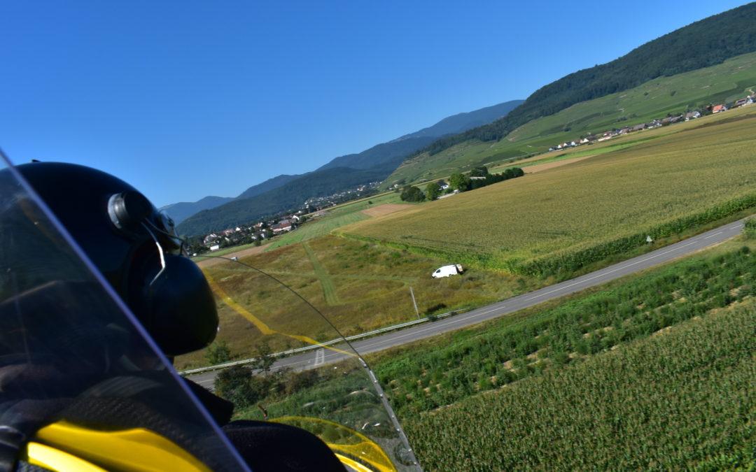 L'Alsace vue du ciel en ULM autogire