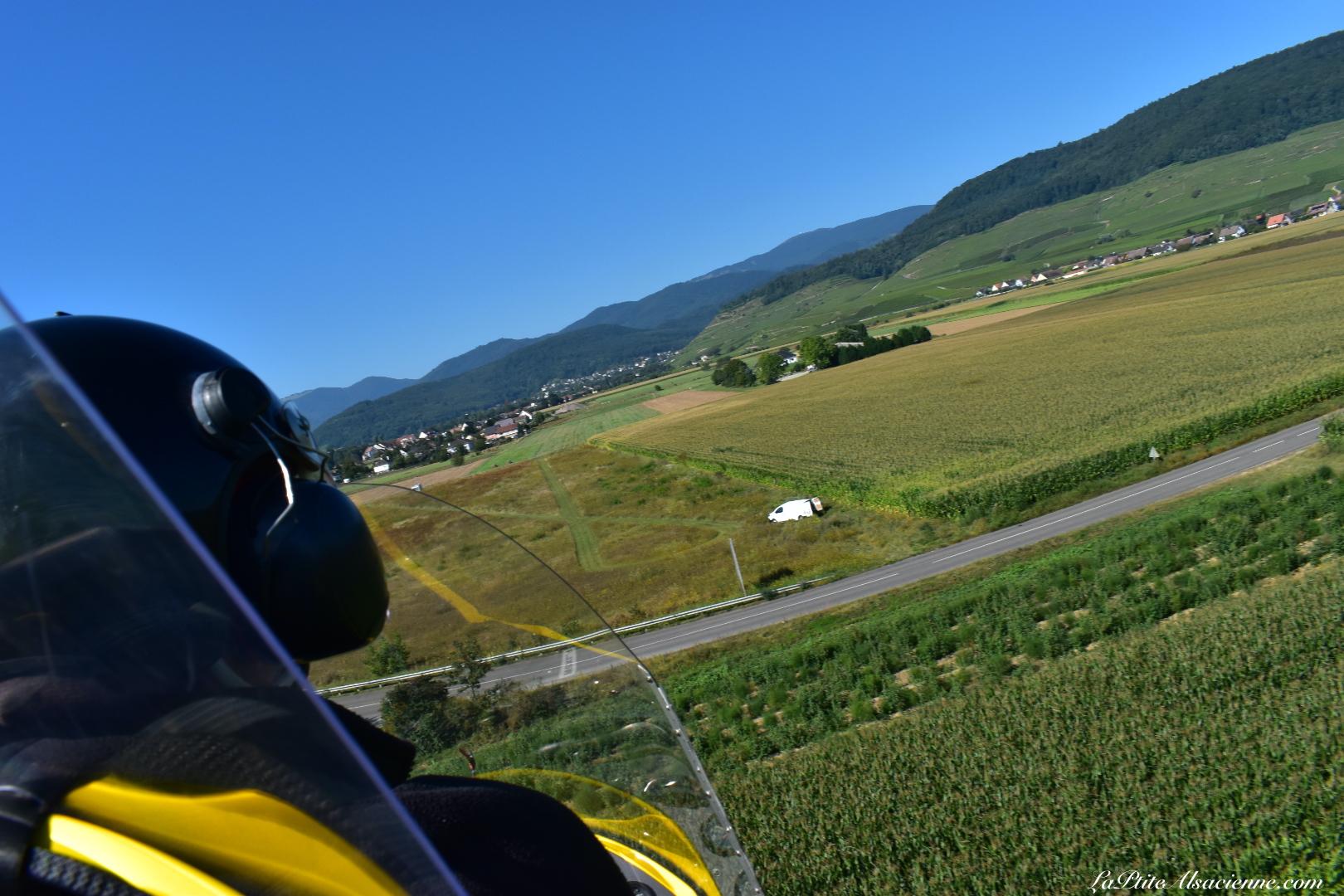 Atterrissage en ULM avec Ciel Destination Decouverte au départ d'Issenheim. Photo de Cendrine Miesch dite LaPtiteAlsacienne
